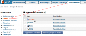 eZ publish : creer une classe de type Content
